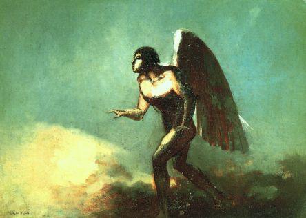 Michel blogue/Le Carême/sujet site du Vatican/La chute Angel444px-redon_winged-man